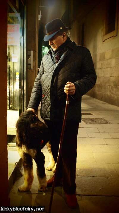 man + dog, barcelona