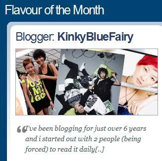 Kinkybluefairy - Nuffnang featured blogger