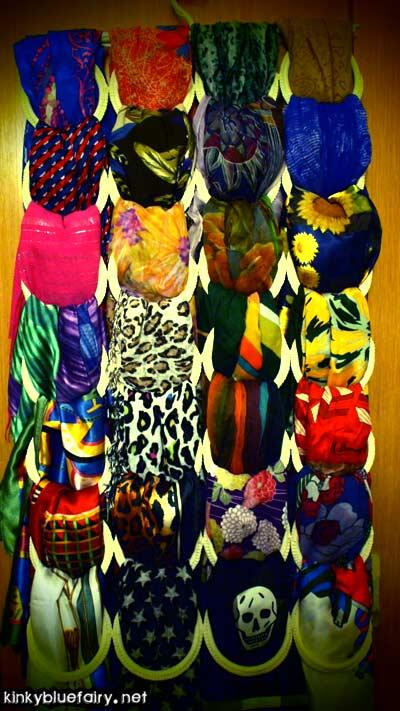 you'll never be lonely with so many scarves.