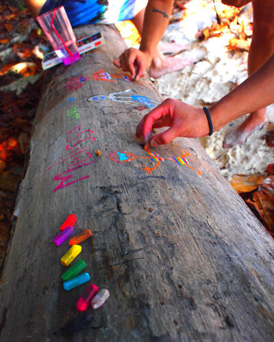 drawing on trees