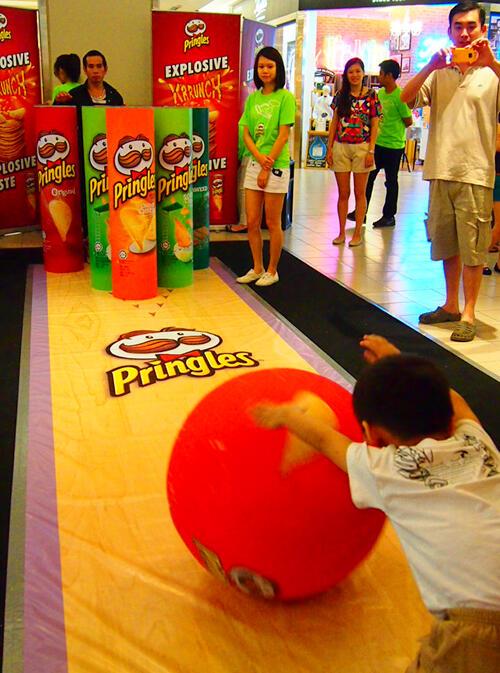 giant pringles bowling