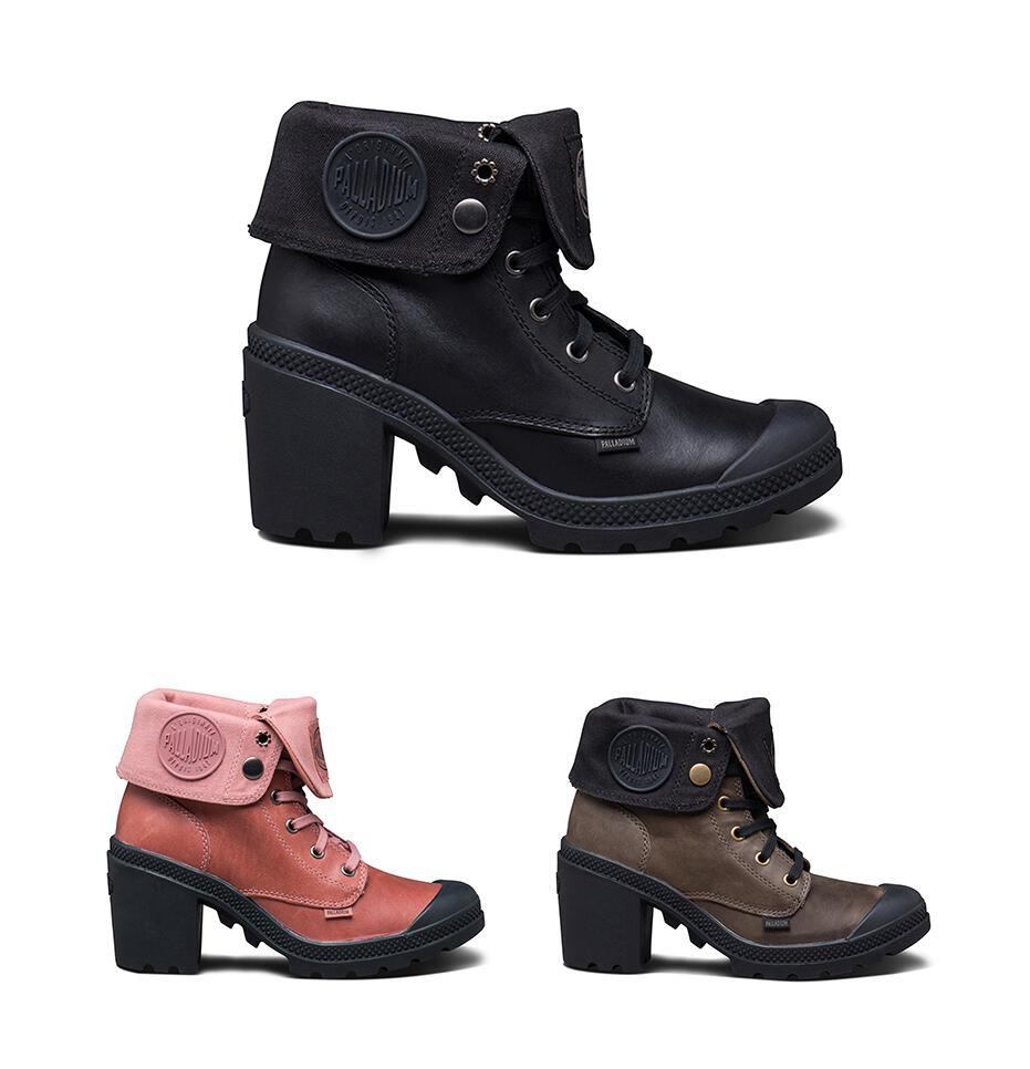 PALLADIUMBAGGYHEEL. The Leather Baggy Heel