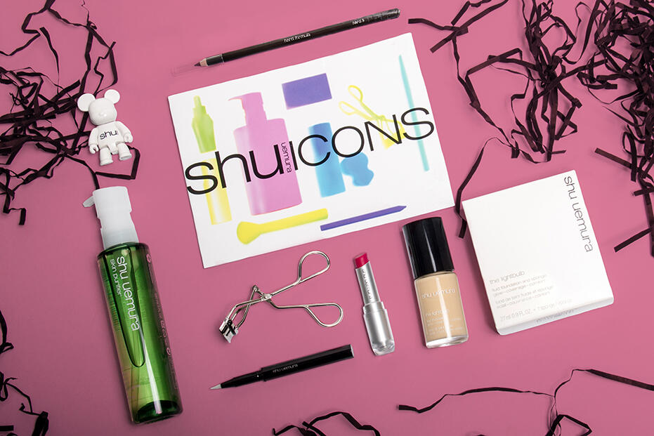 Shu uemura Icons-1 Eyebrow pencil hard 9 skin purifier caligraphy brush lipstick the lightbulb skin foundation eyelash curler