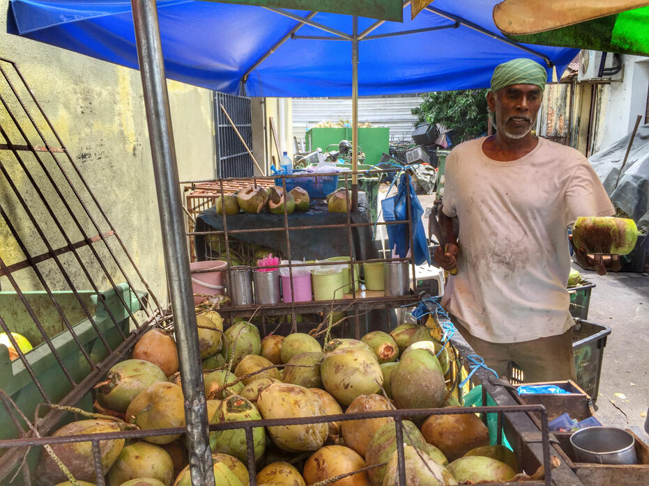Penang June 2016- food and wedding-28 coconut stall