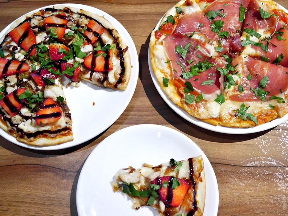 Tiki-Taka-KL-Malaysia-18-Spicy-Serrano pizza-and-Strawberry-Chicken pizza