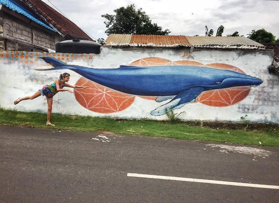Bali Uluwatu Surf Villas 51 - Whale Graffiti Art