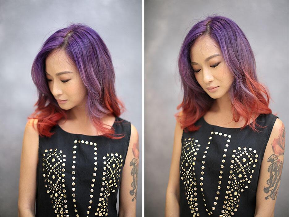 by-Ikwan-Hamid---Joyce-Wong-centro-hair-salon-malaysia-3-purple-red-hair-unicorn